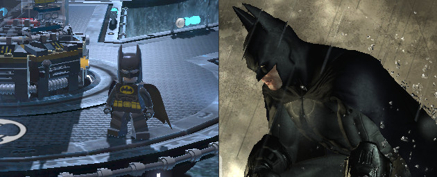 Lego Batman and Arkham Batman