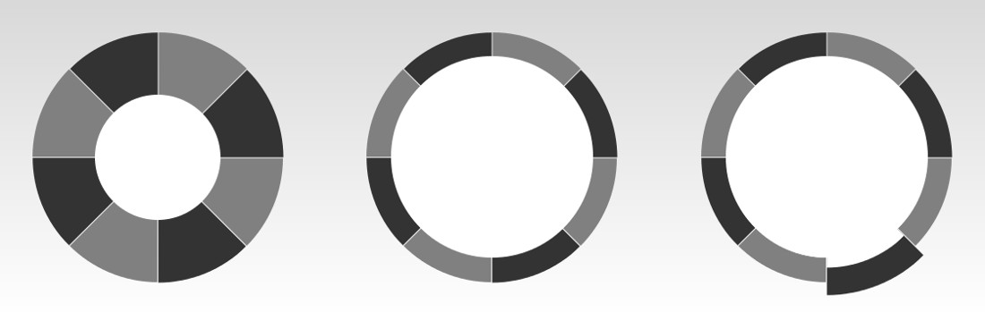 Circles, made with CSS