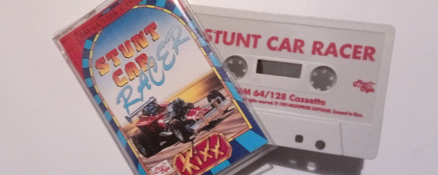Stunt car racer original box and cassette. Yes, cassette! Ah, those were the days.