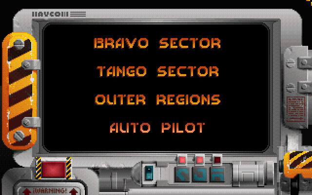 Screenshot of Raptor showing the level select screen.